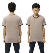 Man Wearing Empty TShirt — Stock Photo