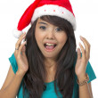 Shocking Christmas Woman — Stock Photo #11506073