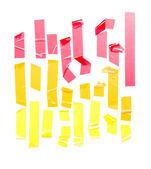 Conjunto de tiras de fita adesiva — Foto Stock