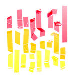 Sada pásky krepové pásky — Stock fotografie