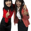Two Business Woman Give Thumb Up — Stock Photo