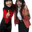 Stock Photo: Two Business Woman Give Thumb Up