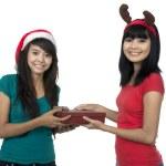 Give Christmas Box — Stock Photo