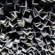 Stock Photo: Metal profiles angle