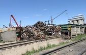 The site for the processing of scrap — Stock Photo