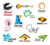 Conjunto de vectores iconos y símbolos — Vector de stock