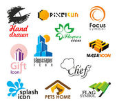 Set of vector icons and symbols — Stock Vector