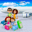 Foto Stock: 3D family vacations