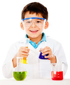 Boy at the lab — Foto de Stock