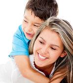 Milující matka a syn — Stock fotografie