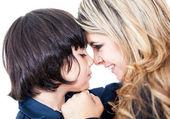 母亲和儿子的肖像 — 图库照片
