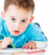 Stock Photo: Boy coloring