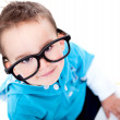 Funny boy wearing glasses — Stock Photo