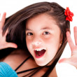 Royalty-Free Stock Photo: Girl having fun