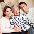 Grandmother with her family — Stock Photo