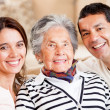 Mother, son and daughter-in-law - Stock Photo