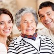 Stockfoto: Mother, son and daughter-in-law