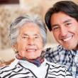 Grandmother and grandson - Stock Photo