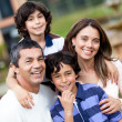 Beautiful family smiling — Stock Photo #10754014