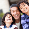 Royalty-Free Stock Photo: Happy father with sons