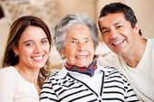 Mother, son and daughter-in-law — Stock Photo