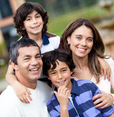 Beautiful family smiling — Stock Photo