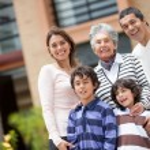 Beautiful family smiling — Stock Photo