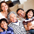 Beautiful family at home — Foto Stock
