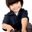 Boy playing video games - Foto Stock