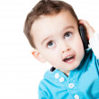 Boy on the phone — Stock Photo