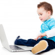 Boy with a laptop — Stock Photo #10811982