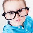 Boy wearing glasses - Foto Stock