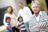 Lovely grandmother — Stock Photo