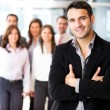 Businessman leading a group — Stock Photo #10842585
