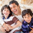 Playful father with son — Stock Photo