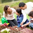 Royalty-Free Stock Photo: Family gardening