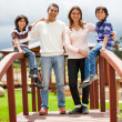 Foto de Stock  : Family outdoors