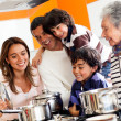 Family cooking at home — Stock Photo #10843181