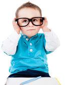 Jonge geeky student — Stockfoto