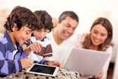 Technological family — Stock Photo