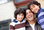 Boys in the family — Stock Photo