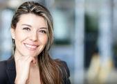 Kobieta przekonany, biznes — Zdjęcie stockowe