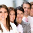 Business group in a row — Stock Photo #10901170