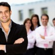 team leader di business uomo — Foto Stock