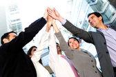 Framgångsrik verksamhet grupp — Stockfoto