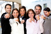 Business group pointing — Stock Photo
