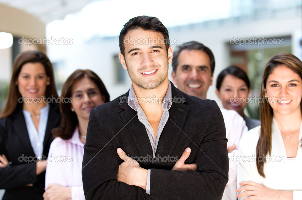 Group of successful business looking confident — Stock Photo #10901263