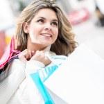 Happy shopping woman — Stock Photo #10914854