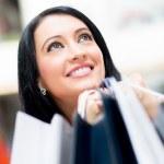 Happy female shopper — Stock Photo #10915365