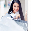 Gorgeous shopping girl - Stock Photo